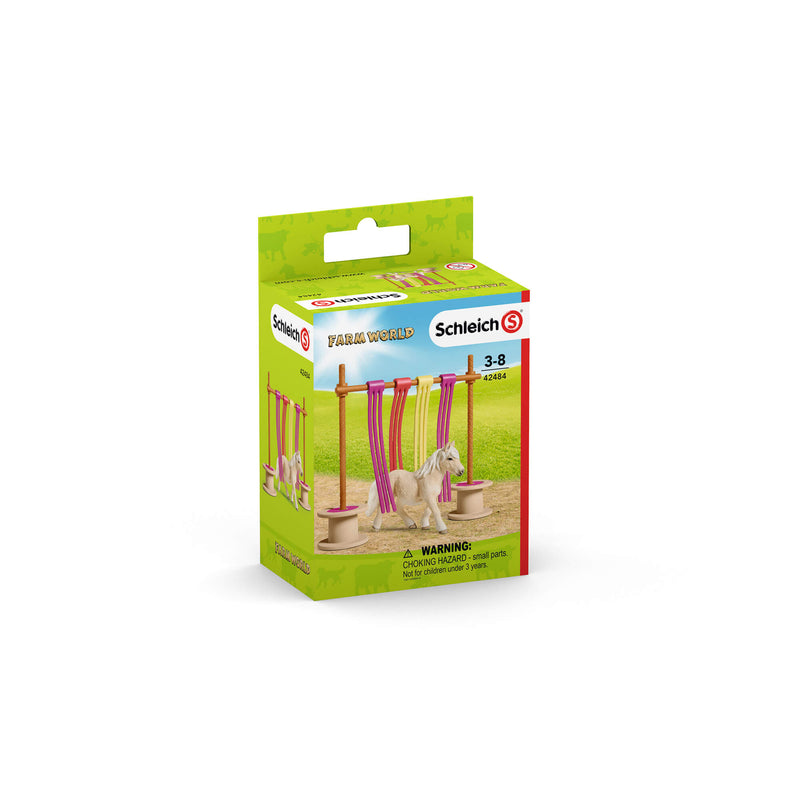 Schleich Farm World Pony Curtain Obstacle Play Set