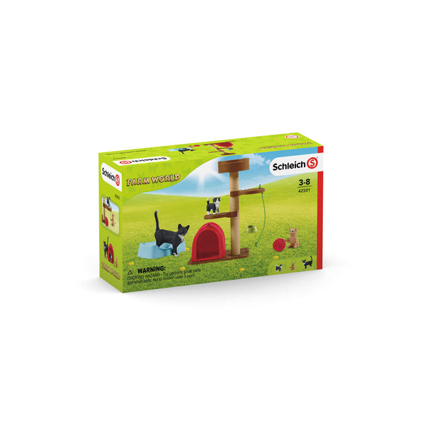 Schleich Farm World Playtime For Cute Cats Play Set