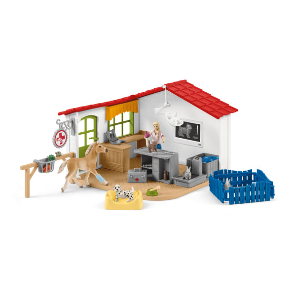 Schleich Farm World Veterinarian Practice with Pets Figure Set