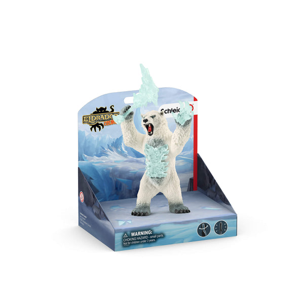 Schleich Eldrador Blizzard Bear With Weapon Figure
