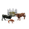 Schleich Farm World Texas Longhorn Family Animal Figure Set