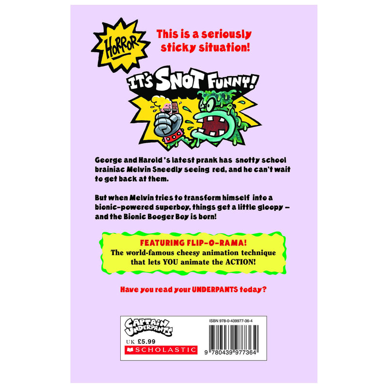 Captain Underpants Big Bad Battle of the Bionic Booger Boy 1 Color