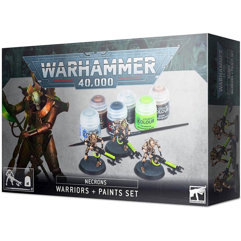 Warhammer 40,000 Necrons Warriors and Paint Set