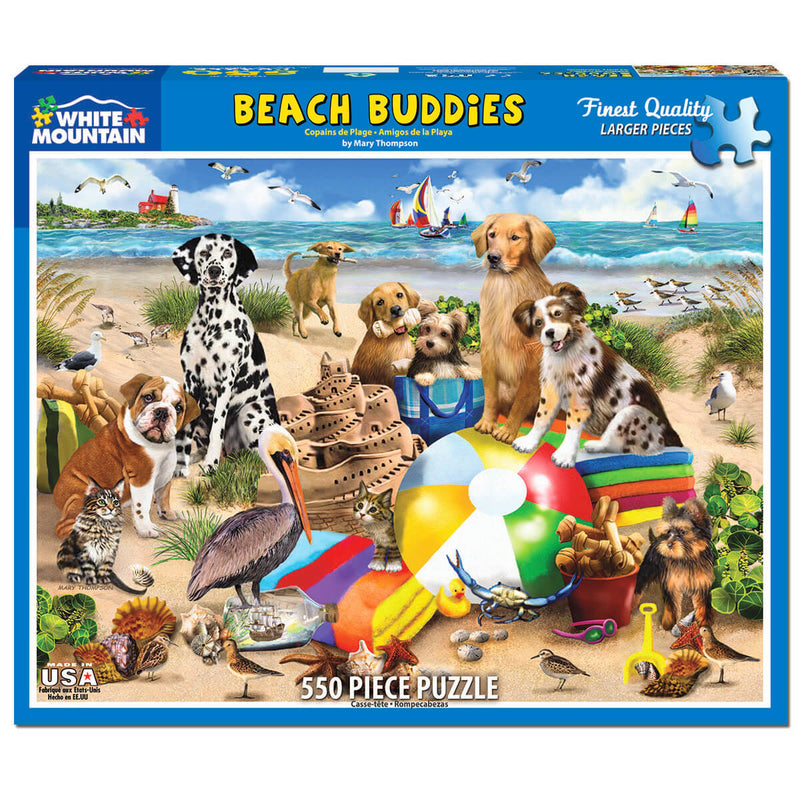 White Mountain Puzzles Beach Buddies 550 Piece Jigsaw Puzzle