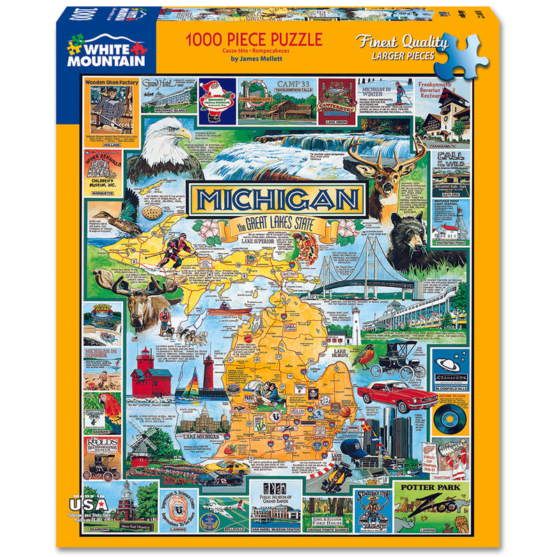 White Mountain Puzzles Best of Michigan 1000 Piece Jigsaw Puzzle