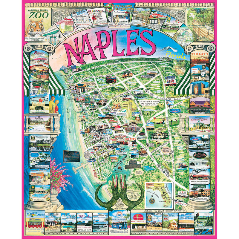 White Mountain Puzzles Naples FL 1000 Piece Jigsaw Puzzle