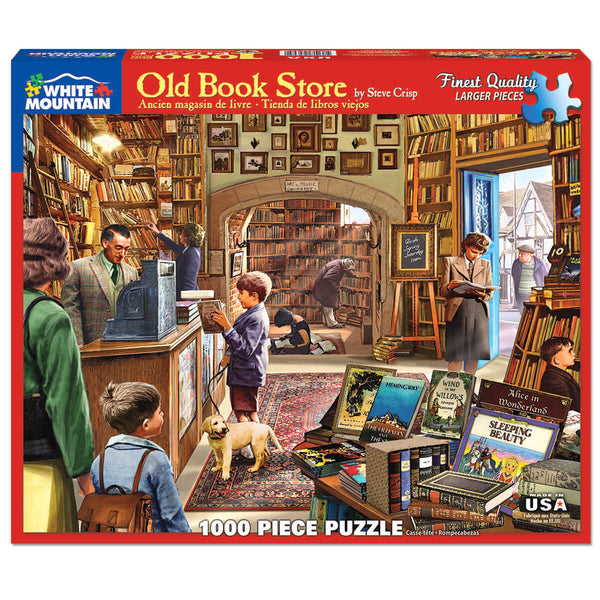 White Mountain Puzzles Old Book Store 1000 Piece Jigsaw Puzzle