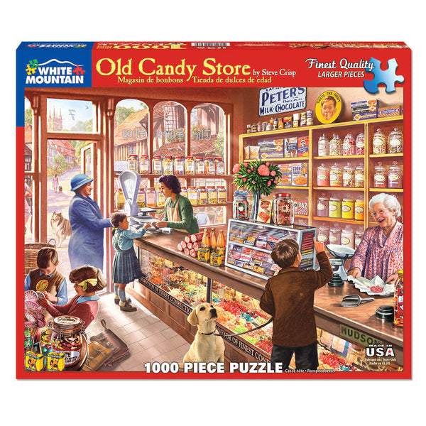 White Mountain Puzzles Old Candy Store 1000 Piece Jigsaw Puzzle