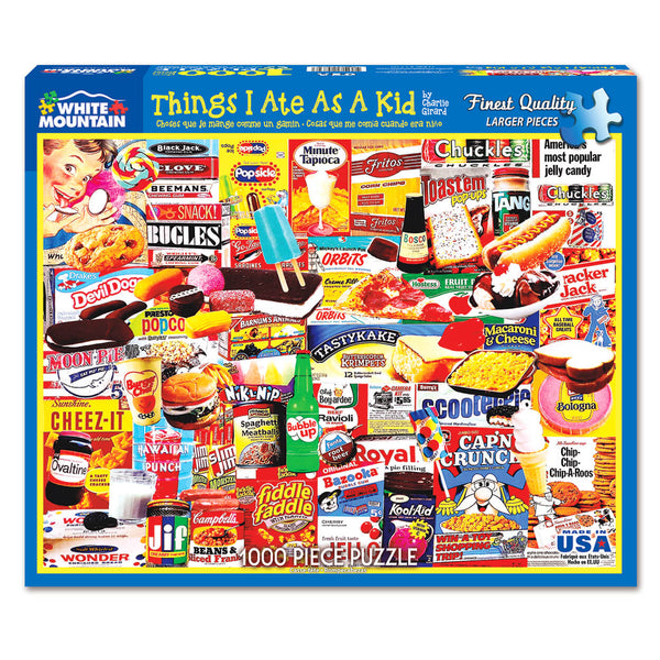 White Mountain Puzzles Things I Ate As A Kid 1000 Piece Jigsaw Puzzle