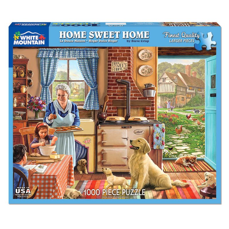 White Mountain Puzzles Home Sweet Home 1000 Piece Jigsaw Puzzle