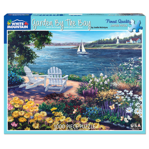 White Mountain Puzzles Garden by the Bay 1000 Piece Jigsaw Puzzle