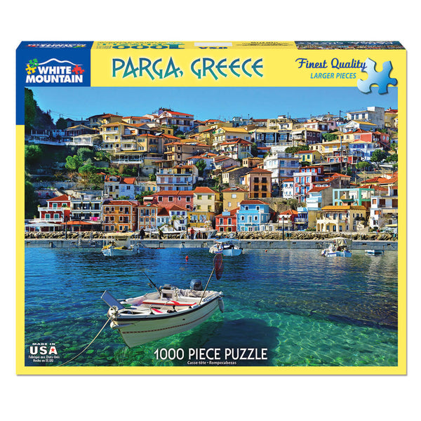 White Mountain Puzzles Parga Greece 1000 Piece Jigsaw Puzzle