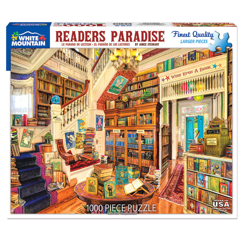White Mountain Puzzles Readers Paradise 1000 Piece Jigsaw Puzzle