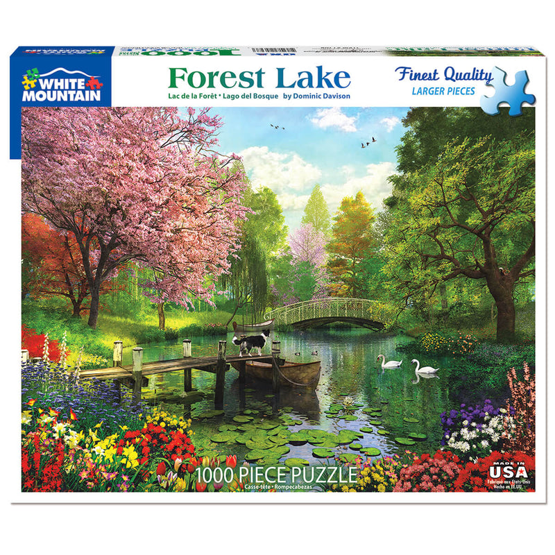 White Mountain Puzzles Forest Lake 1000 Piece Jigsaw Puzzle