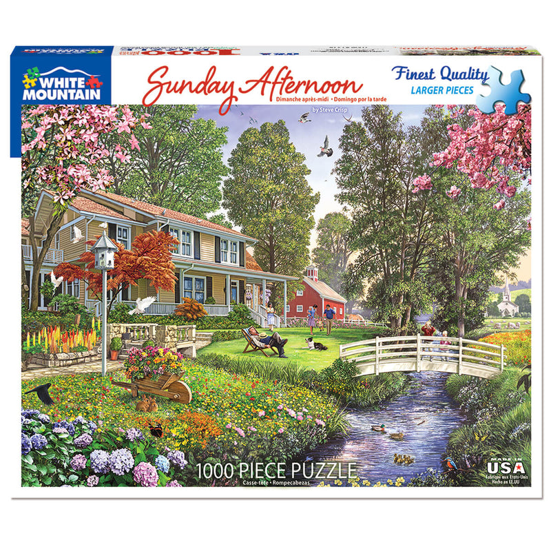 White Mountain Puzzles Sunday Afternoon 1000 Piece Jigsaw Puzzle