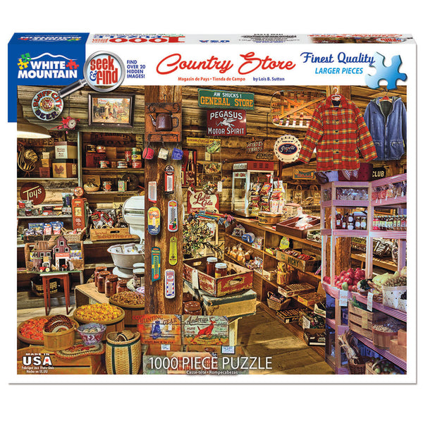 White Mountain Puzzles Country Store Seek & Find 1000 Piece Puzzle