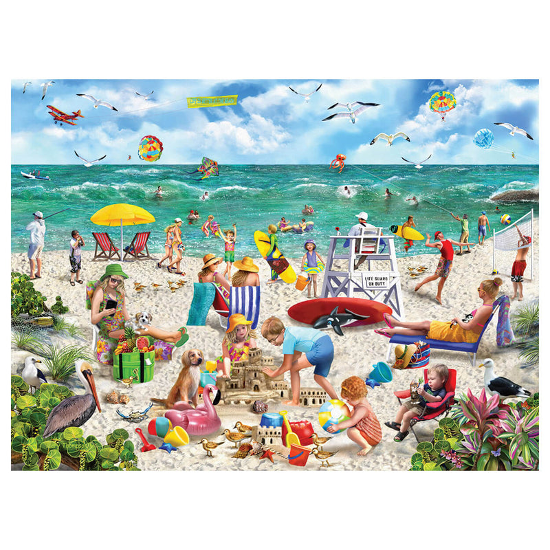White Mountain Puzzles Beach Day Seek & Find 1000 Piece Jigsaw Puzzle
