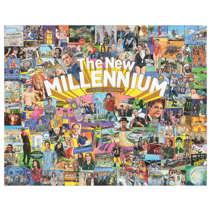 White Mountain Puzzles The New Millennium 1000 Piece Jigsaw Puzzle