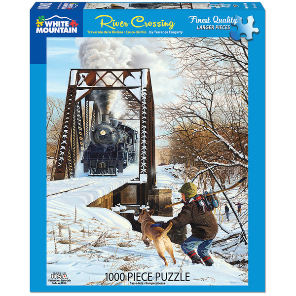White Mountain Puzzles Crow River Crossing 1000 Piece Jigsaw Puzzle