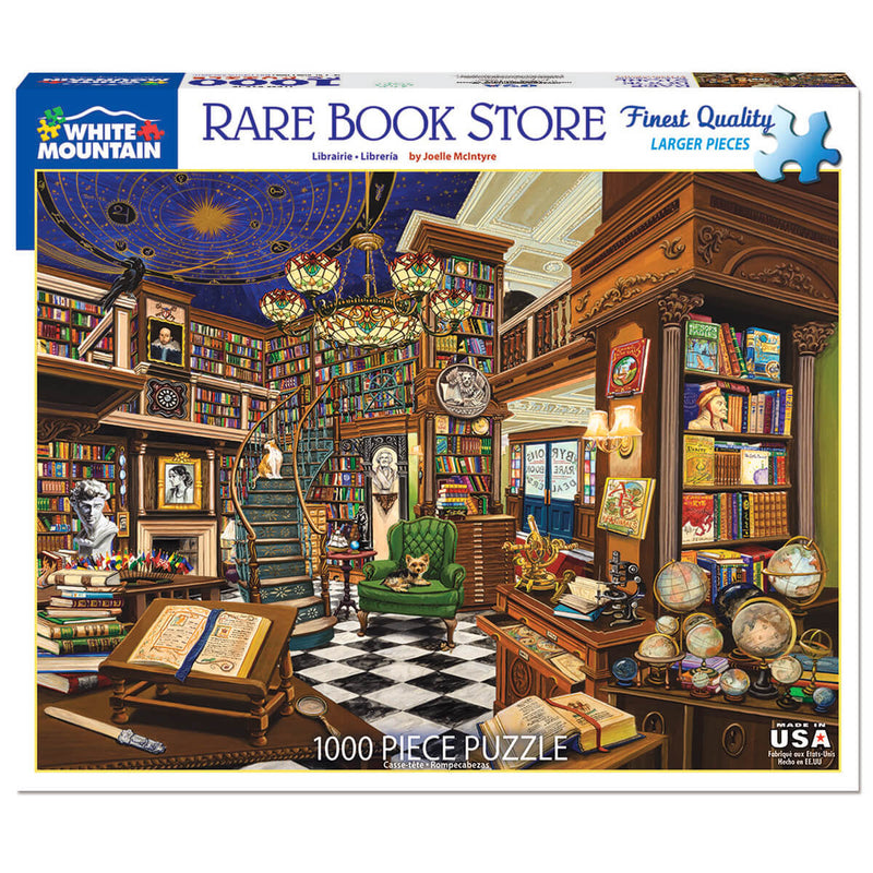 White Mountain Puzzles Book Store 1000 Piece Jigsaw Puzzle