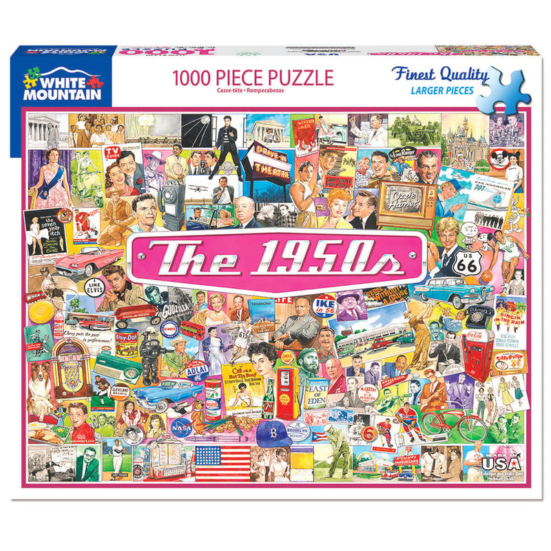 White Mountain Puzzles The 1950s 1000 Piece Jigsaw Puzzle