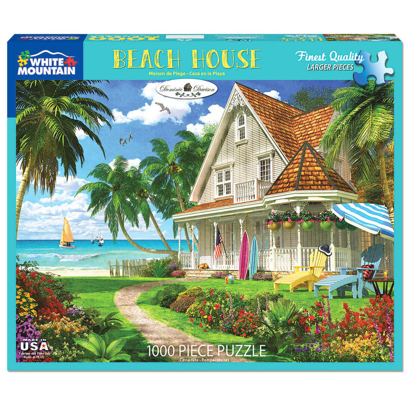 White Mountain Puzzles Beach House 1000 Piece Jigsaw Puzzle