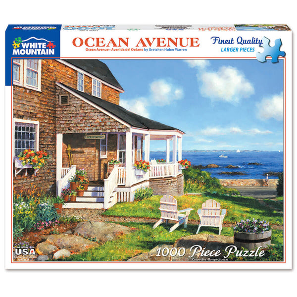 White Mountain Puzzles Ocean Avenue 1000 Piece Jigsaw Puzzle