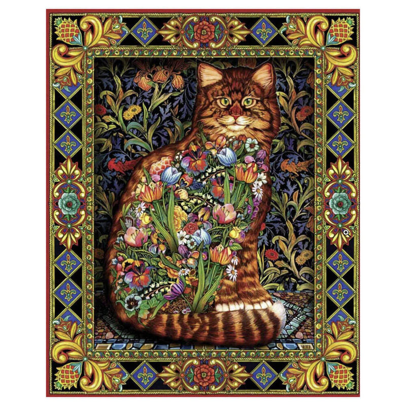 White Mountain Puzzles Tapestry Cat 1000 Piece Jigsaw Puzzle