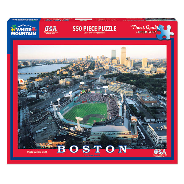 White Mountain Puzzles Boston - Fenway Park 550 Piece Jigsaw Puzzle