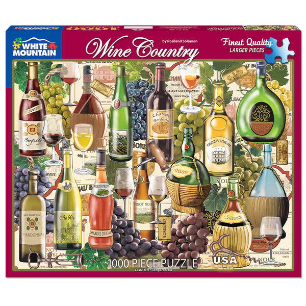 White Mountain Puzzles Wine Country 1000 Piece Jigsaw Puzzle
