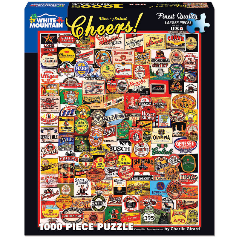 White Mountain Puzzles Cheers! 1000 Piece Jigsaw Puzzle