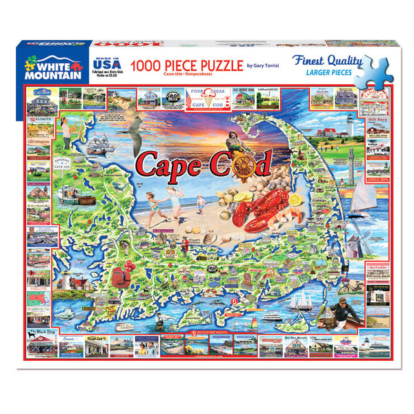 White Mountain Puzzles Cape Cod 1000 Piece Jigsaw Puzzle