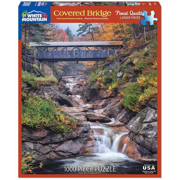 White Mountain Puzzles Covered Bridge 1000 Piece Jigsaw Puzzle