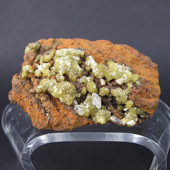 Adamite crystal cluster from Mexico