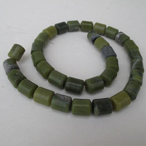 Serpentine 12 mm tube beads - 15 inch strand