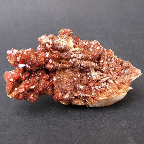 Vanadinite crystal cluster on Barite from Mibladen, Morocco