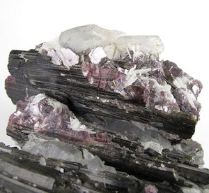Watermelon Tourmaline with Lepidolite and Quartz