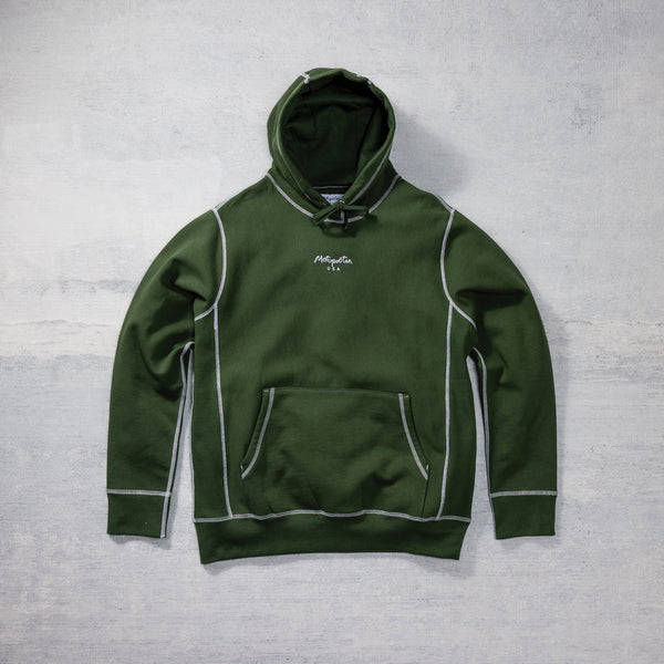 Contrast Stitch Classic Pull Over Hoodie