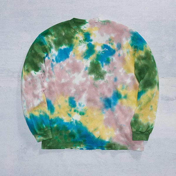 Embroidered Waffle Thermal / Tie Dye
