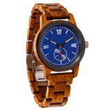 NEW - Men's Handcrafted Engraving Ambila Wood Watch -
