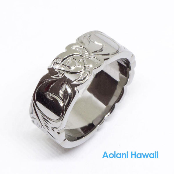 Black Rhodium Sterling Silver Ring (8mm width)