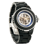 NEW - Men's Genuine Automatic Ebony Wooden Watches