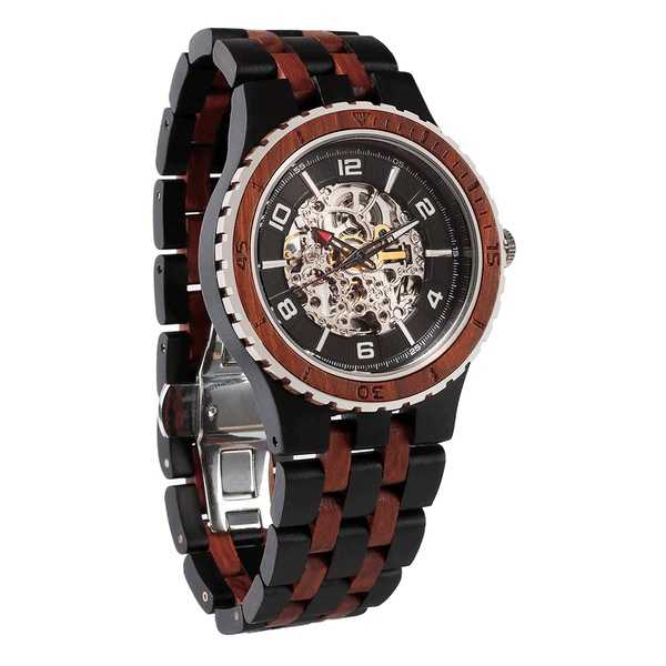 NEW - Men's Premium Self-Winding Ebony Rosewood Watch