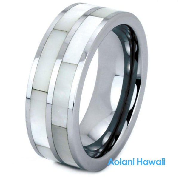Mother of Pearl Tungsten Ring(6mm - 8mm width)