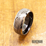 New - Damascus Black Tungsten Ring