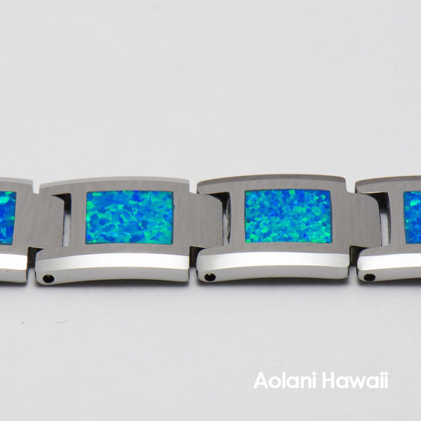 "Opal Tungsten Carbide Bracelet (14mm width, 8"" inch in length) - Aolani Hawaii - 2"