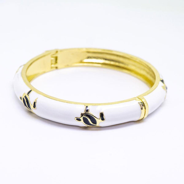 NEW - Enamel Bracelet Bangle - Turtle (Honu) Style