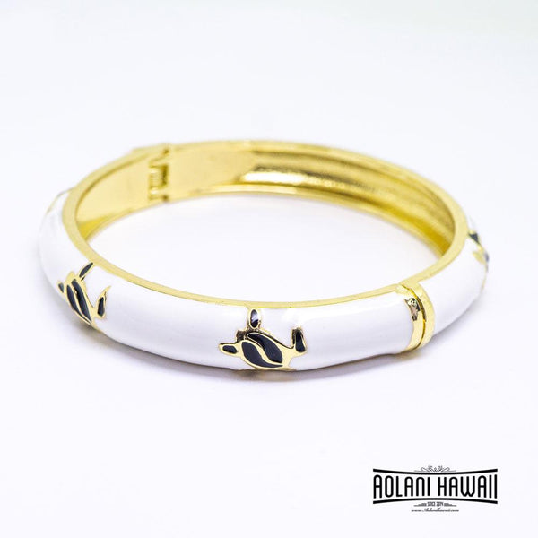 Enamel Bracelet Bangle - Turtle (Honu) Style