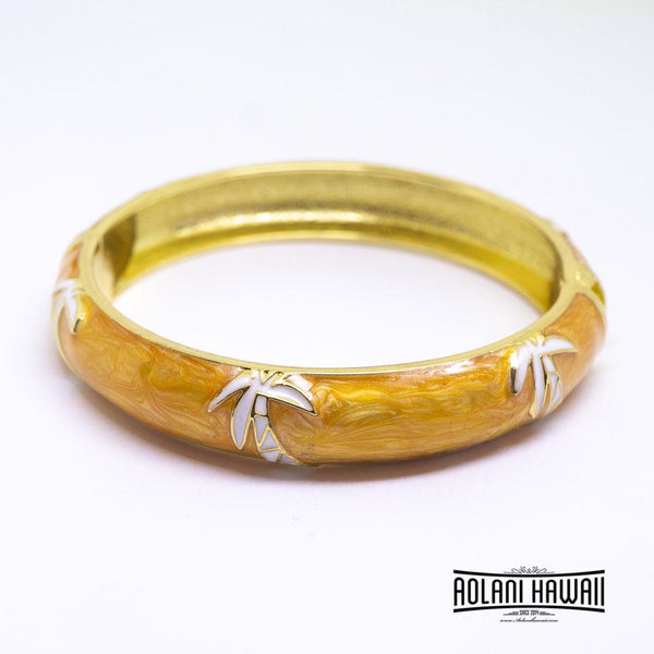 NEW - Enamel Bracelet Bangle - Palm Tree Style
