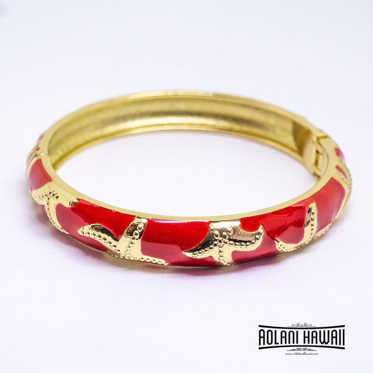NEW - Enamel Bracelet Bangle - Starfish Style